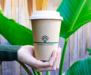 Sustain bamboo hot cups are ideal for use with coffee & tea as an evironmentally friendly option
